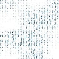 Binary code digital technology background