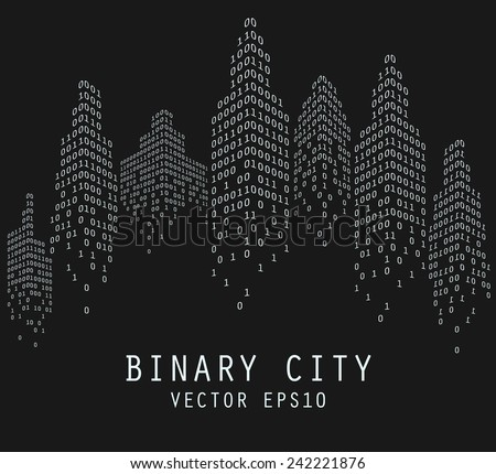 binary code in form of