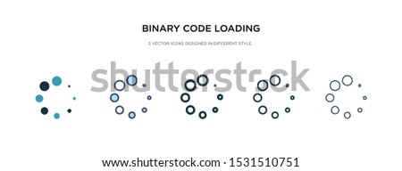 binary code loading icon in