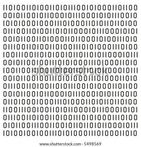 Binary code vector pattern or background - for use as design element - gradients applicable (single path for whole pattern)