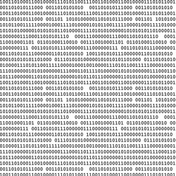 Binary computer code seamless pattern vector background illustration black.