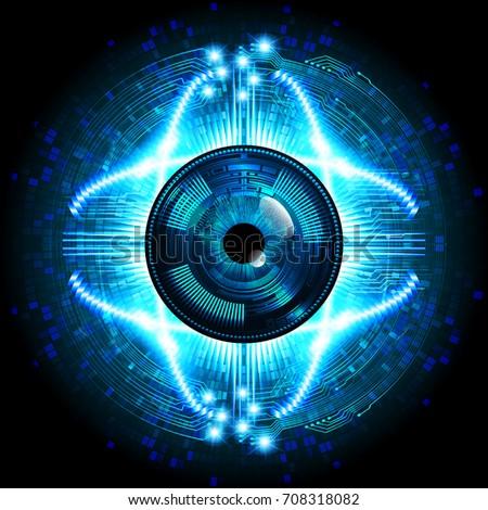 binary future technology  blue
