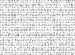 Binary matrix computer data code vector seamless background. Binary code for programming, illustration of digital code