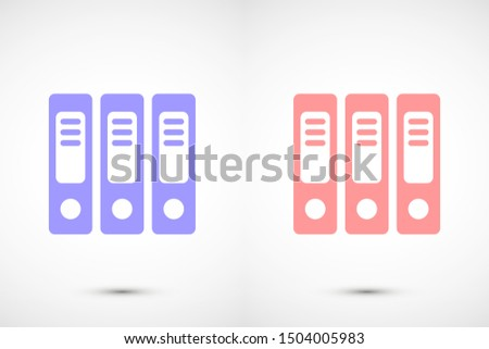 Binder icon design template glyph style.Binder icon notebook Element. Binder icon Notebook linear style sign for mobile concept and web design. Binder icon Filled archives super