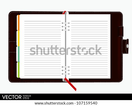 binder notebook - stock vector