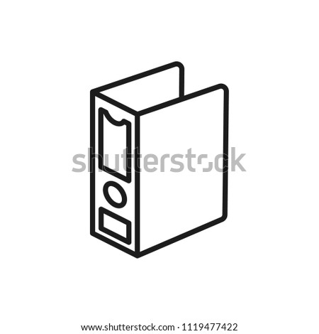 binder vector icon