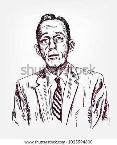 bing crosby vector illustration
