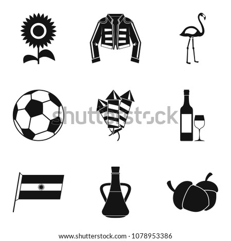 binge icons set simple set of