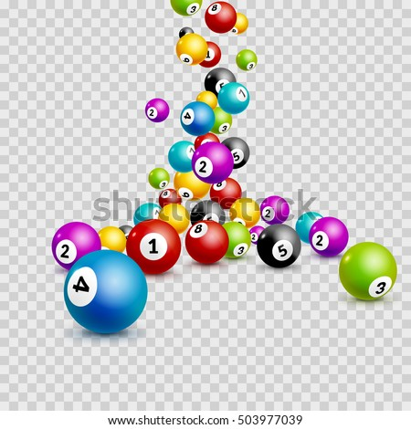 Bingo lottery balls numbers background. Lotto keno winner. Gamble isolated leisure