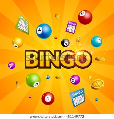 bingo lottery poster balls