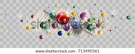 Bingo lottery ticket lucky balls and numbers of lotto vector design Photo stock ©