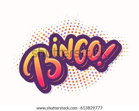 Bingo! Vector card. Photo stock ©