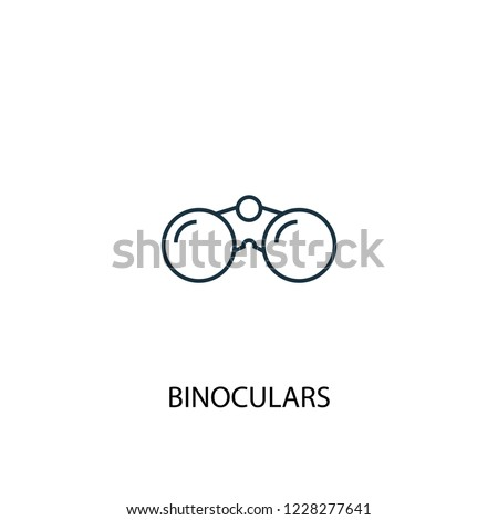 Binoculars concept line icon. Simple element illustration. Binoculars concept outline symbol design from Camping set. Can be used for web and mobile UI/UX