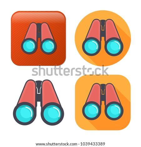 Binoculars explorer find icon - vision symbol - zoom icon
