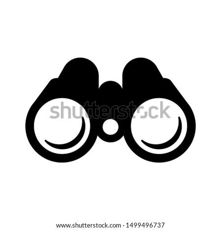 binoculars icon. black on a white background. eps Stock fotó ©