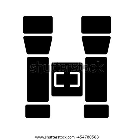 Binoculars icon. Vector illustration