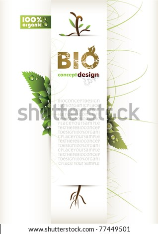 bio concept design eco friendly stock vector illustration 77449501 shutterstock. Black Bedroom Furniture Sets. Home Design Ideas