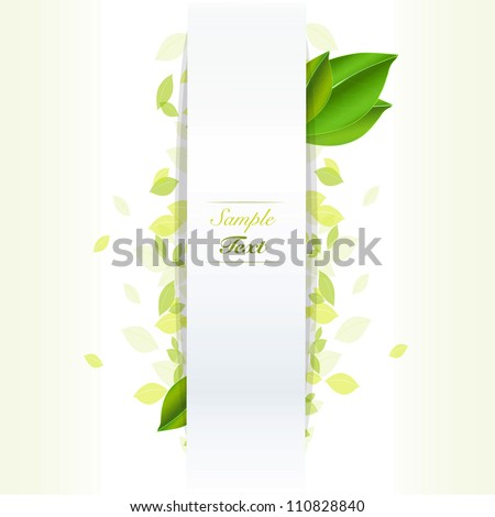 Bio concept leaves background. Vector design. - stock vector