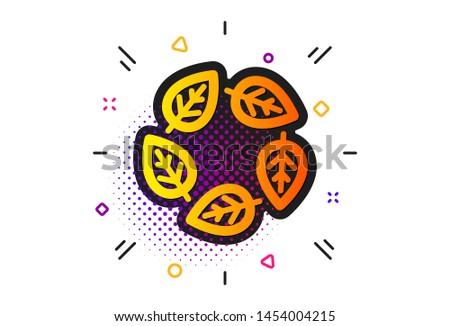 Bio cosmetics sign. Halftone circles pattern. Organic tested icon. Fair trade symbol. Classic flat organic tested icon. Vector