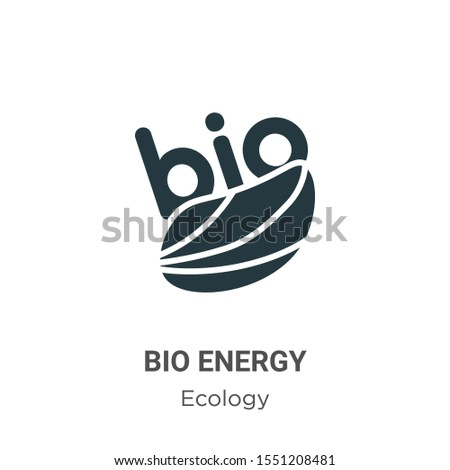 Bio energy symbol vector icon on white background. Flat vector bio energy symbol icon symbol sign from modern ecology collection for mobile concept and web apps design.
