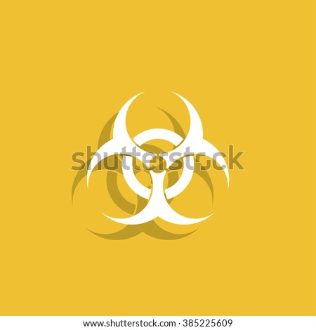 Bio hazard icon - vector web illustration, easy paste to any background. #385225609
