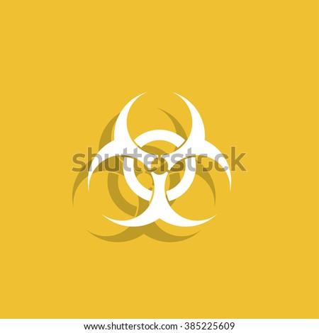 Bio hazard icon - vector web illustration, easy paste to any background. #385225609
