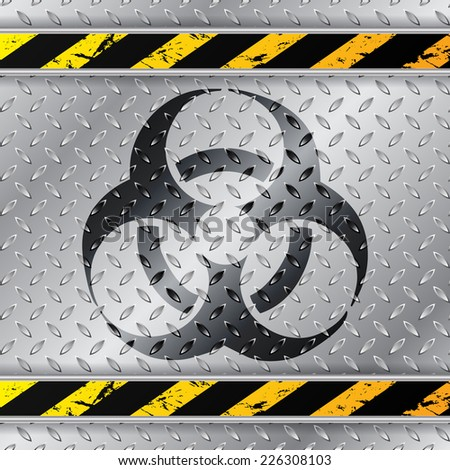 bio hazzard warning sign on