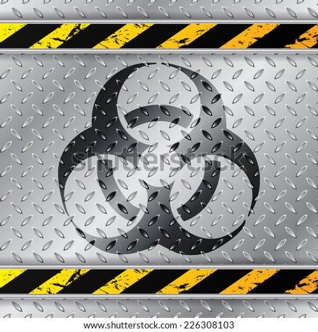 bio hazzard warning sign on