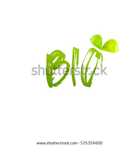 Bio logo design vector on white background. Leaf icon