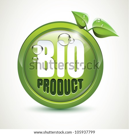 Bio product - glossy icon