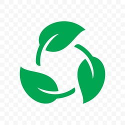 Biodegradable recyclable plastic free package icon. Vector bio recycling degradable label logo template