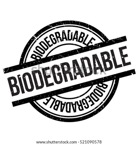 Shutterstock Biodegradable stamp. Grunge design with dust scratches. Effects can be easily removed for a clean, crisp look. Color is easily changed.