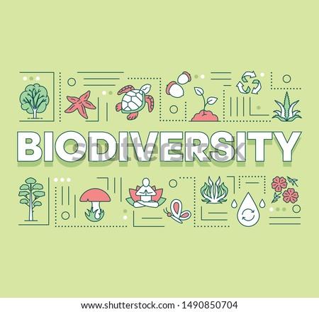 biodiversity word concepts