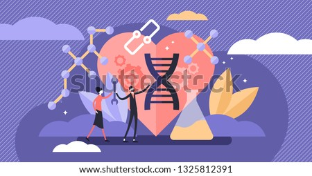Biohacking vector illustration. Flat tiny self improvement persons concept. Biological health engineering using hacker ethic and anatomical AI monitoring. Grinder approach that affects organs wealth.