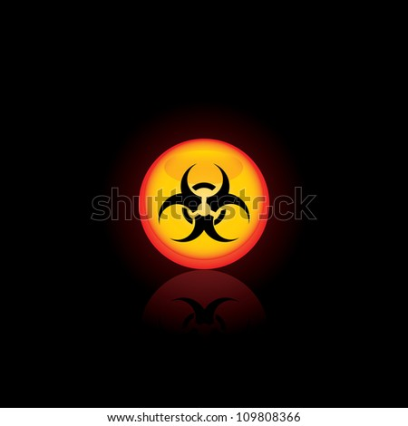 Biohazard circle icon  for your design.Vector illustratio