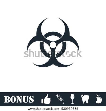 biohazard icon flat vector
