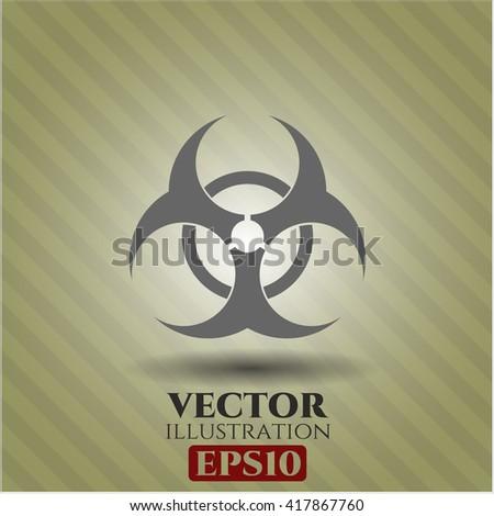 biohazard icon vector symbol flat eps jpg app web concept