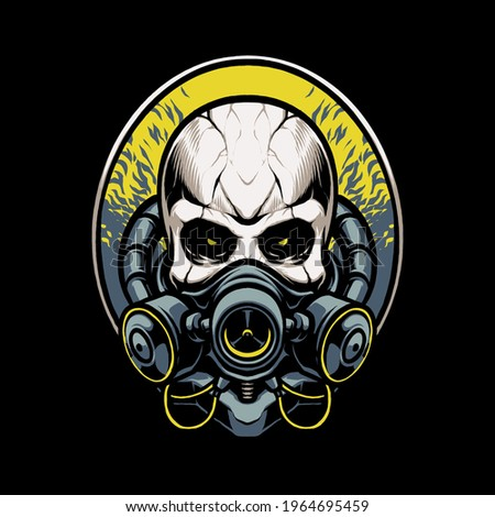 biohazard mask skull head