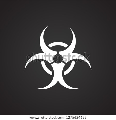 Biohazard sign icon on black background for graphic and web design, Modern simple vector sign. Internet concept. Trendy symbol for website design web button or mobile app #1275624688