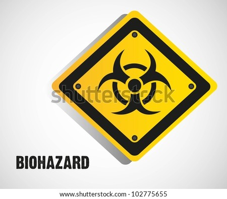 biohazard sign isolate on white background, vector illustration