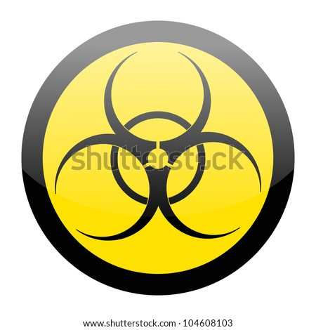 Biohazard sign isolated on a white background