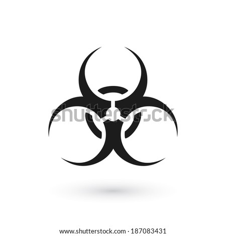 biohazard symbol isolated on
