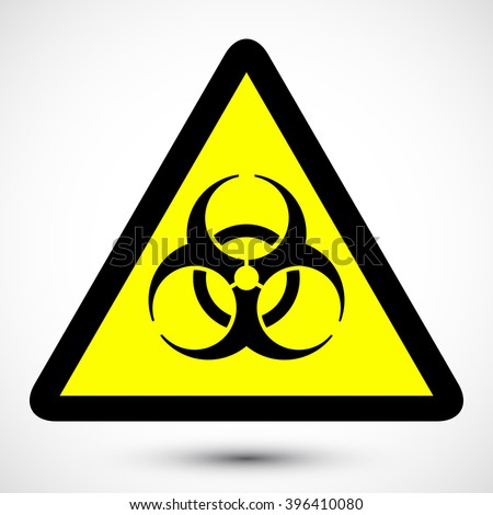 biohazard symbol on background