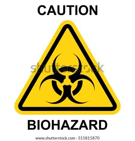 Biohazard symbol, sign of biological threat alert . Vector illustration