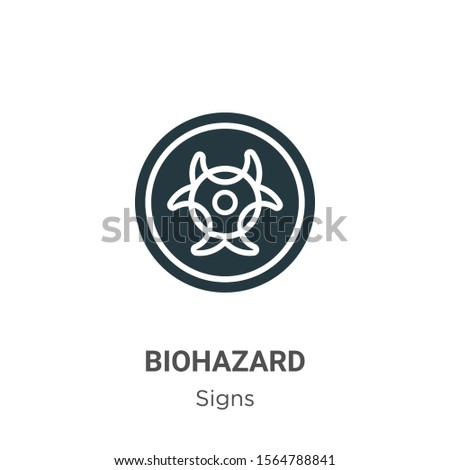 Biohazard symbol vector icon on white background. Flat vector biohazard symbol icon symbol sign from modern signs collection for mobile concept and web apps design.