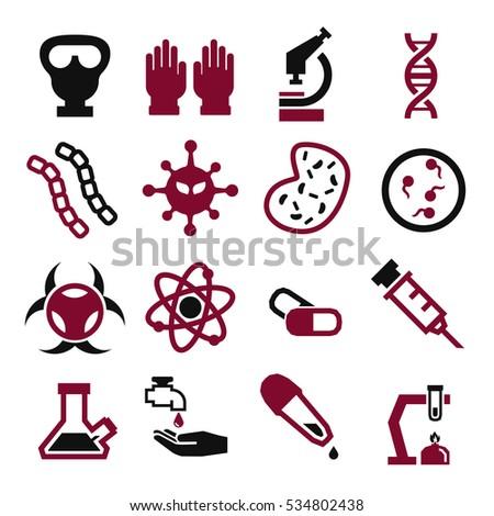 biohazard, toxic icon set