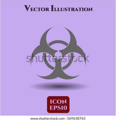 Biohazard vector symbol