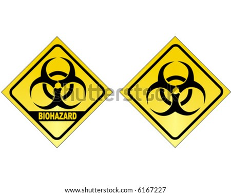 BIOHAZARD (2 versions) - vector sign