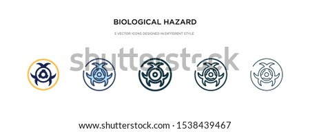 biological hazard icon in different style vector illustration. two colored and black biological hazard vector icons designed in filled, outline, line and stroke style can be used for web, mobile, ui