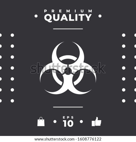 Biological hazard sign. Graphic elements for your design